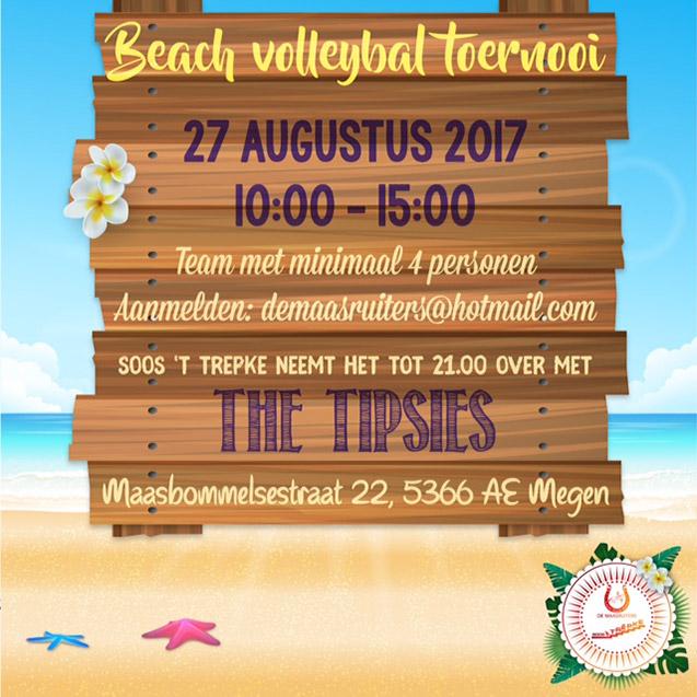 Beachvolleybal toernooi 2017 De Maasruiters Megen